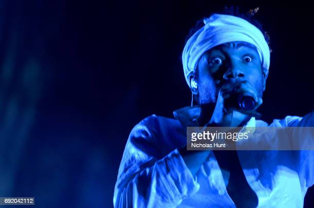 Donald Glover of Childish Gambino performs onstage during the 2017 Governors Ball Music Festival Day 2 at Randall's Island on June 3 2017 in New York...