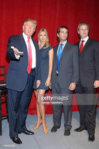 Donald Ivanka Donald Jr and Eric Trump attend the launch of Trump Soho Hotel Condominium in New York City on September 19 2007