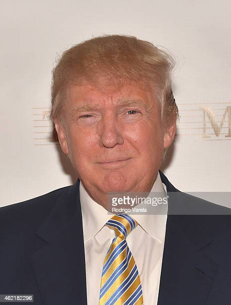 Donald J Trump attends The 63rd Annual Miss Universe Pageant at Trump National Doral on January 25 2015 in Doral Florida