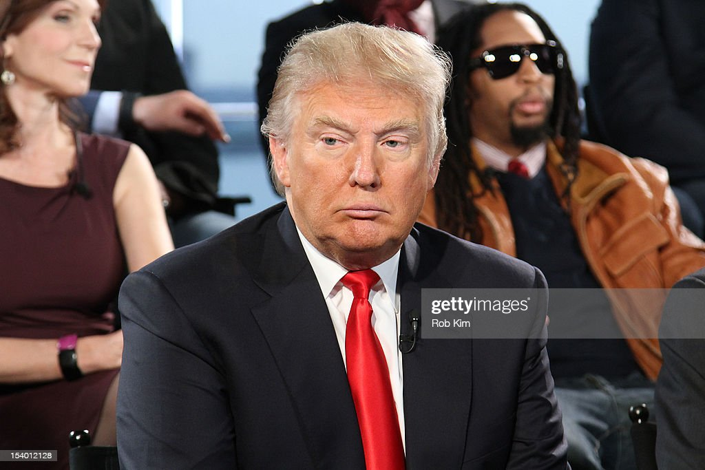 Donald J. Trump attends the 'Celebrity Apprentice All Stars' Season 13 Press Conference at Jack Studios on October 12, 2012 in New York City.