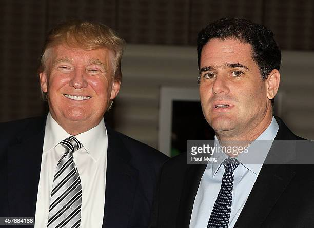 Donald J Trump Chairman President The Trump Organization and His Excellency Ron Dermer Ambassador of Israel to the United States attend The Wharton...