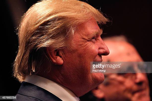 Donald J Trump Chairman President The Trump Organization attends The Wharton Club's 44th Annual Wharton Award Dinner at the Park Hyatt Washington...