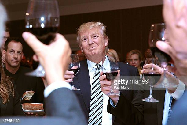 Donald J Trump Chairman President The Trump Organization attends The Wharton Club's 44th Annual Wharton Award Dinner at the Park Hyatt Washington...
