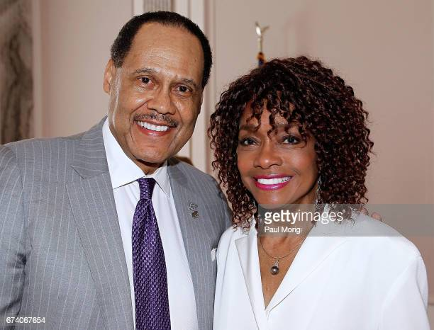 Donald Jackson CEO Stellar TV and actor Beverly Todd attend the Media Solutions Summit at the Russell Senate Office Building on April 27 2017 in...