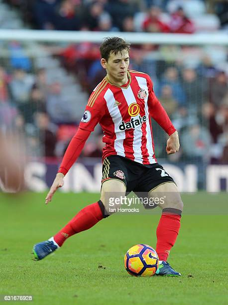 Donald Love of Sunderland during the Premier League match between Sunderland and Stoke City at Stadium of Light on January 14 2017 in Sunderland...