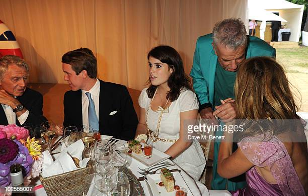 Donald McCullin Jack Brooksbank Princess Eugenie of York Nicky Haslam and Trinny Woodall attend The Elephant Parade auction in aid of The Elephant...