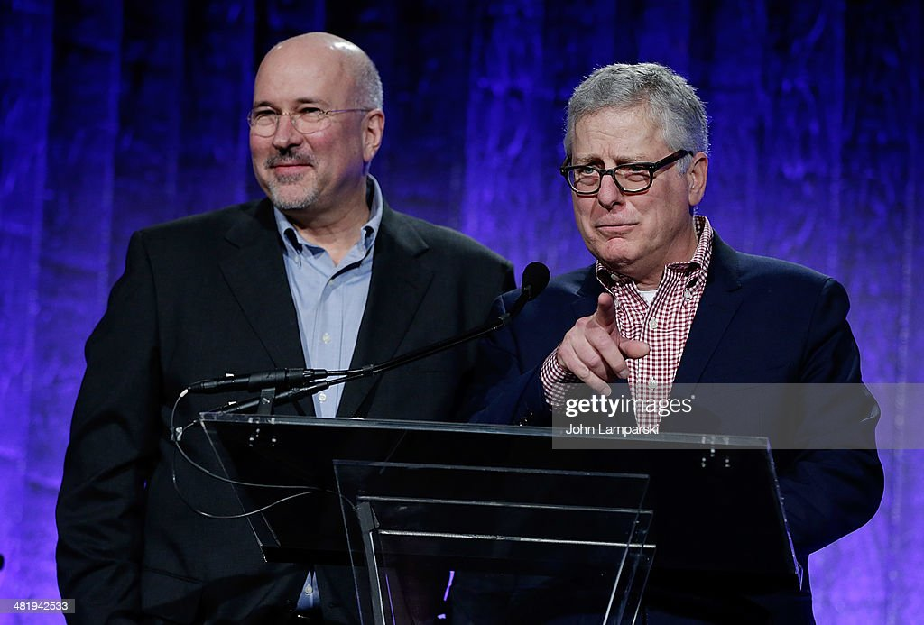 Donald Moffett and Bob Gober attend The New Museum Annual Spring Gala at Cipriani Wall Street on April 1, 2014 in New York City.