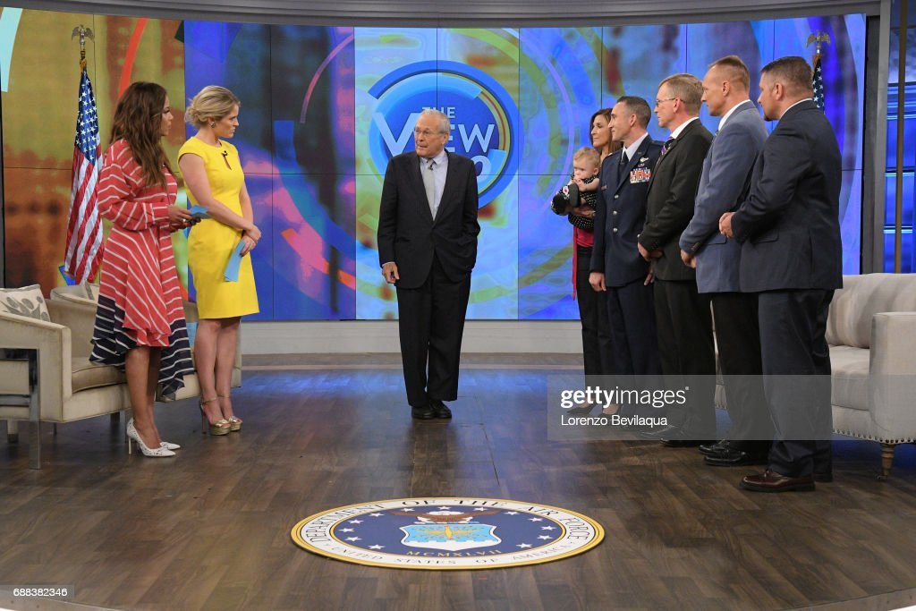 THE VIEW - Donald Rumsfeld is the guest, Thursday, May 25, 2017 on ABC's 'The View.' 'The View' airs Monday-Friday (11:00 am-12:00 pm, ET) on the ABC Television Network. , LT. COL. THOMAS