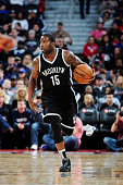 Donald Sloan of the Brooklyn Nets drives to the basket against the Detroit Pistons during the game on March 19 2016 at The Palace of Auburn Hills in...