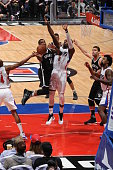 Donald Sloan of the Brooklyn Nets goes for the layup against the Los Angeles Clippers during the game on February 29 2016 at Staples Center in Los...