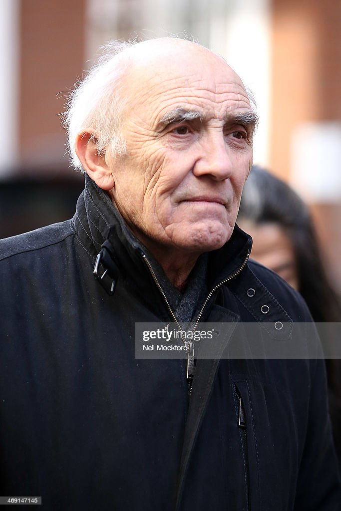 Donald Sumpter attends the funeral of Roger Lloyd-Pack at St Paul's Church in Covent Garden on February 13, 2014 in London, England.