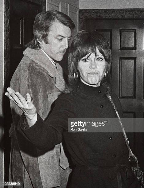 Donald Sutherland and Jane Fonda during Kaufman House Party November 20 1971 at Central Park West in New York City New York United States