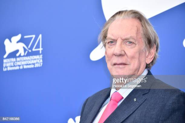 Donald Sutherland attends the 'The Leisure Seeker ' photocall during the 74th Venice Film Festival at Sala Casino on September 3 2017 in Venice Italy