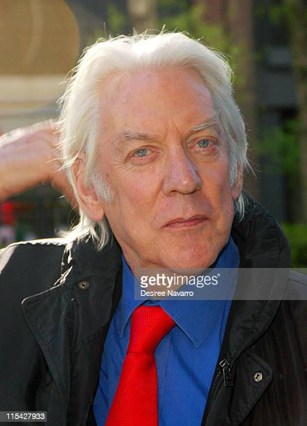 Donald Sutherland during 5th Annual Tribeca Film Festival Premiere of 'Land Of The Blind' Outside Arrivals at Loews Lincoln Square Theater in New...