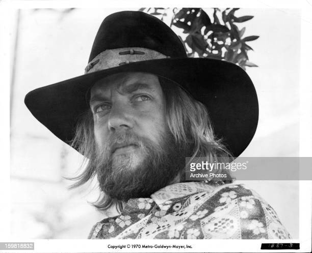 Donald Sutherland looks over his shoulder in a scene from the film 'Alex In Wonderland' 1970