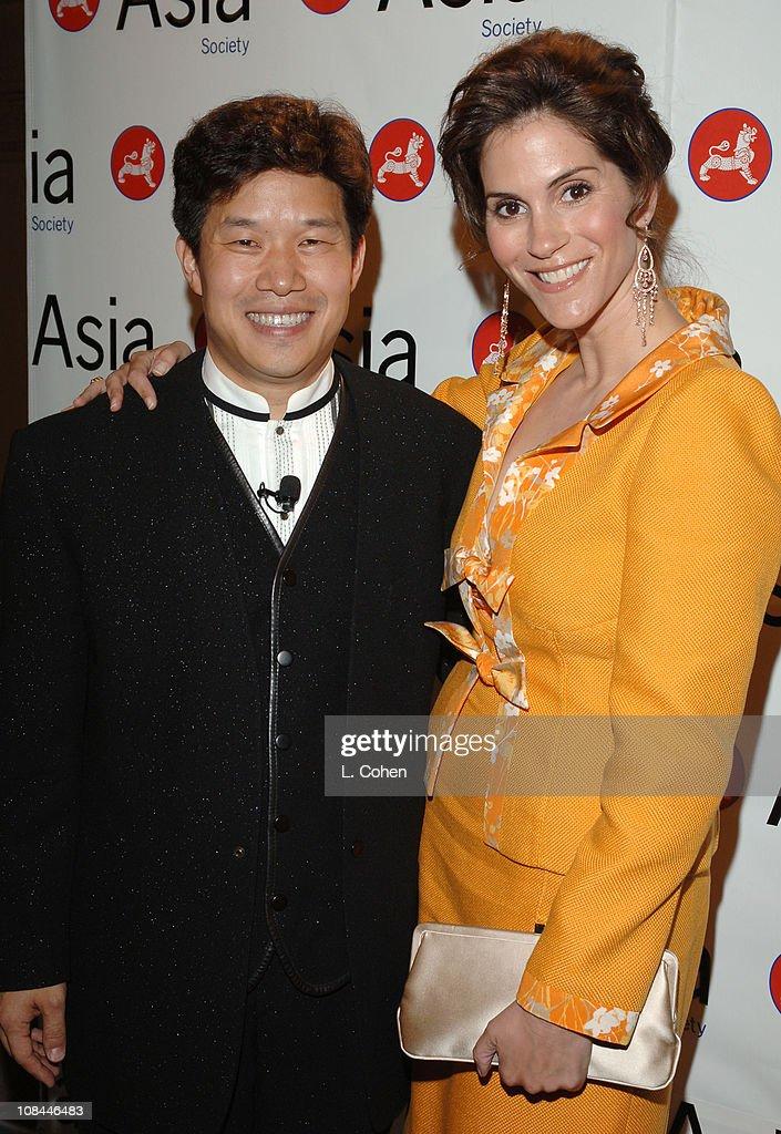 Donald Tang chairman Asia Society Southern California and Jami Gertz