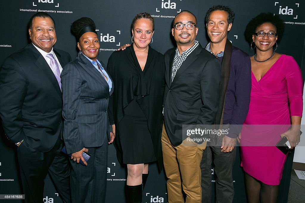 Donald Thoms, Kay Shaw, Jaquie Jones, Garland McLaurin, Adam Lingo and Leslie Fileds Cruz attend the International Documentary Association's 2013 IDA Documentary Awards at Directors Guild of America on December 6, 2013 in Los Angeles, California.