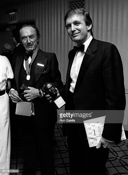 Donald Trump and Fred Trump attend 38th Annual Horatio Alger Awards Dinner on May 10 1985 at the Waldorf Hotel in New York City