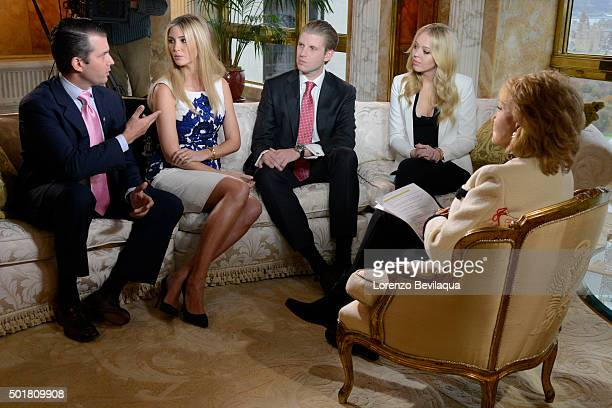 20/20 Donald Trump and his family including wife Melania Trump and his children sit down for an interview with ABC News' Barbara Walters in a special...