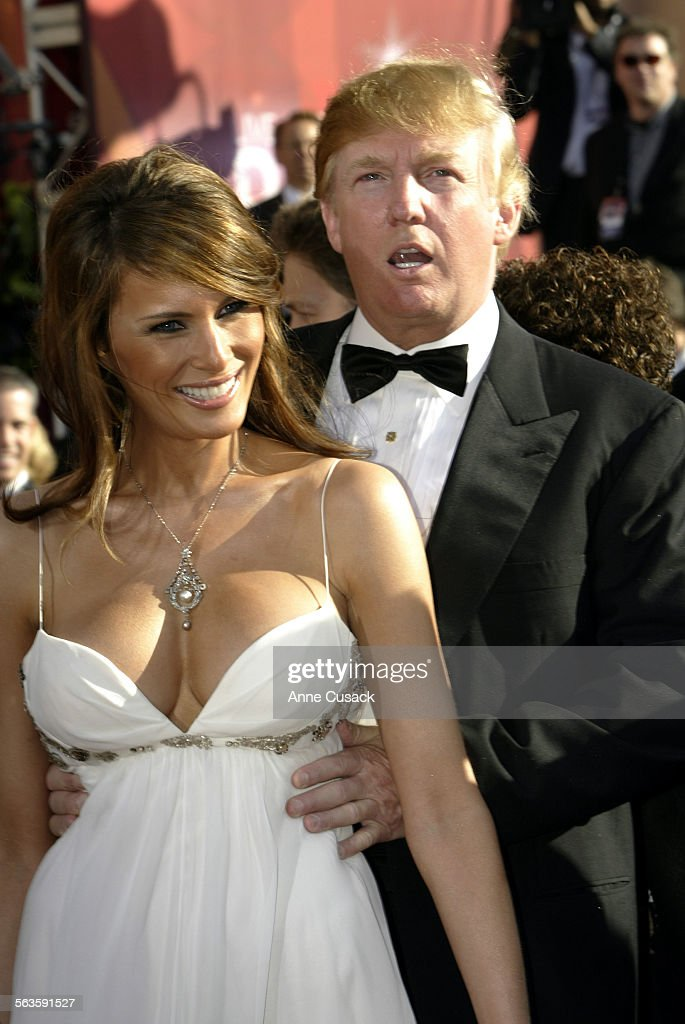 Donald Trump and his fiancee Melania Knauss at the arrivals of 56th ...