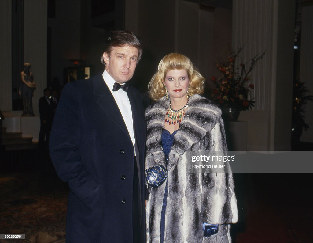 Donald Trump and his wife Ivana, New York, USA, 8th February 1988.