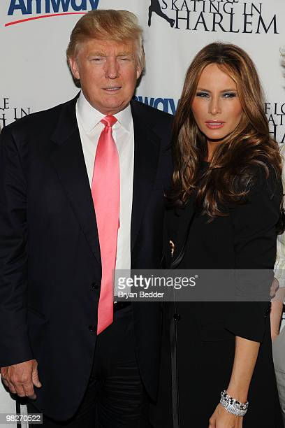 Donald Trump and his wife Melania Trump attend the Figure Skating in Harlem's 2010 Skating with the Stars benefit gala in Central Park on April 5...