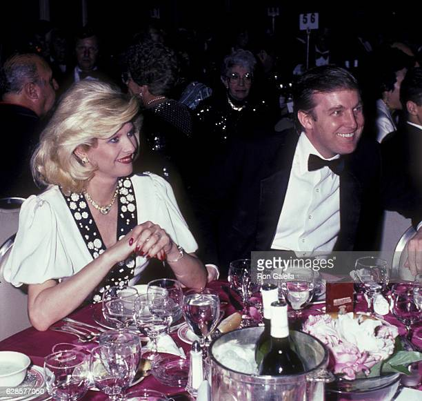 Donald Trump and Ivana Trump attend 38th Annual Horatio Alger Awards Dinner on May 10 1985 at the Waldorf Hotel in New York City