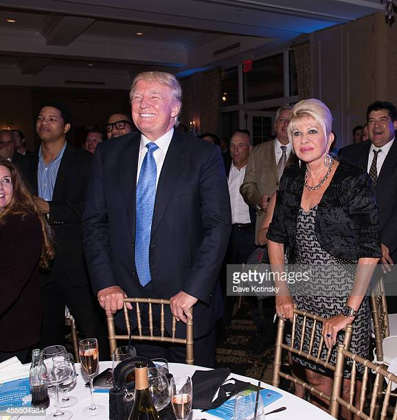Donald Trump and Ivana Trump attend The Eric Trump 8th Annual Golf Tournament at Trump National Golf Club Westchester on September 15 2014 in...