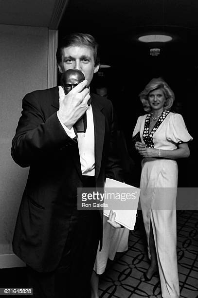Donald Trump and Ivanka Trump attend 38th Annual Horatio Alger Awards Dinner on May 10 1985 at the Waldorf Hotel in New York City