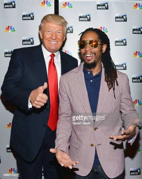 Donald Trump and Lil Jon attend 'All Star Celebrity Apprentice' Red Carpet Event at Trump Tower on May 16 2013 in New York City