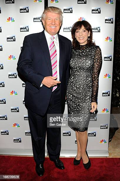 Donald Trump and Marilu Henner attend 'The Celebrity Apprentice AllStars' Red Carpet at Trump Tower on May 7 2013 in New York City