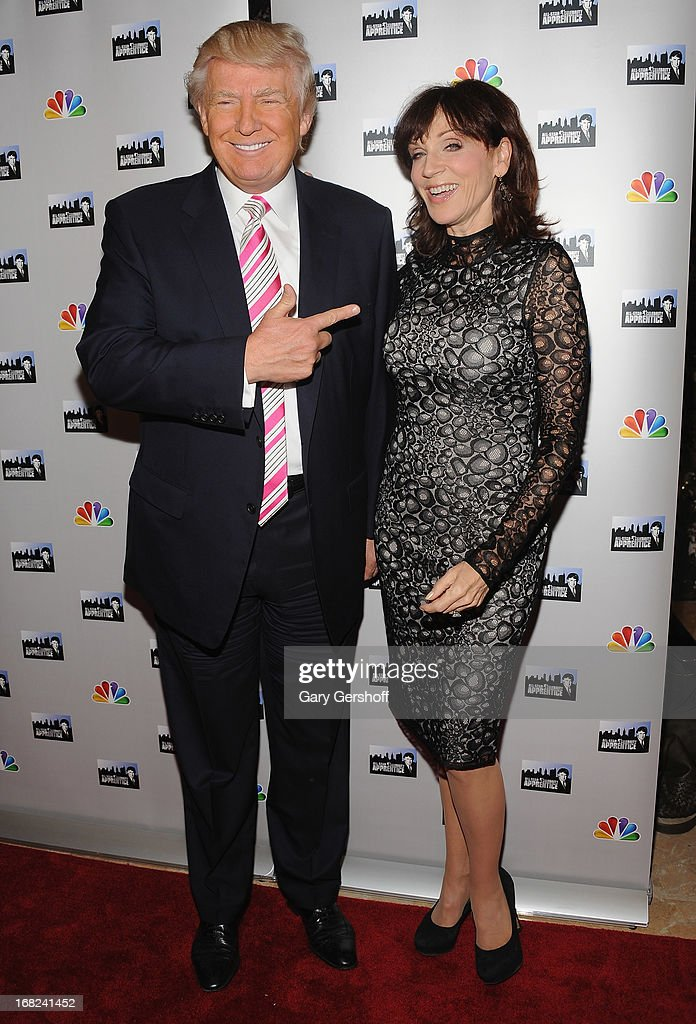 <a gi-track='captionPersonalityLinkClicked' href=/galleries/search?phrase=Donald+Trump+-+Born+1946&family=editorial&specificpeople=118600 ng-click='$event.stopPropagation()'>Donald Trump</a> (L) and <a gi-track='captionPersonalityLinkClicked' href=/galleries/search?phrase=Marilu+Henner&family=editorial&specificpeople=213140 ng-click='$event.stopPropagation()'>Marilu Henner</a> attend 'The Celebrity Apprentice All-Stars' Red Carpet at Trump Tower on May 7, 2013 in New York City.