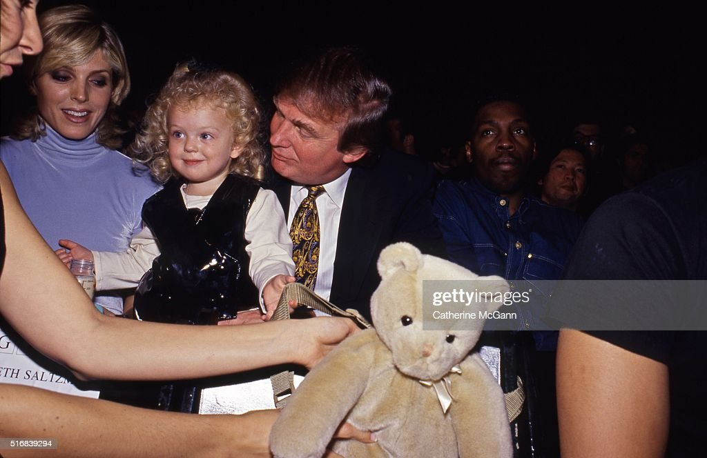 Donald Trump and Marla Maples with daughter Tiffany Trump 1995 in New York City New York