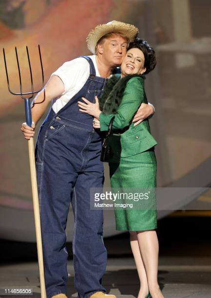 Donald Trump and Megan Mullally perform the 'Green Acres' theme song for Emmy Idol
