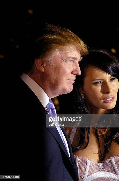 Donald Trump during 2004 Vanity Fair Oscar Party at Mortons in Beverly Hills California United States