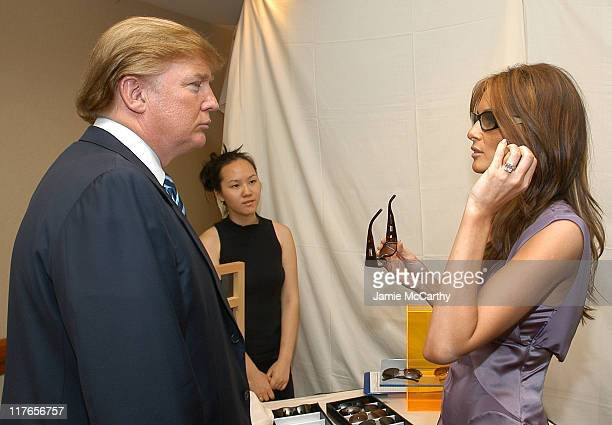 Donald Trump and Melania Knauss during Backstage Creations Retreat at The Promax BDA ConferenceDay 1 at Hilton New York in New York City New York...