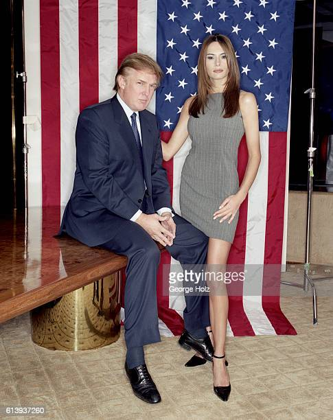 Donald Trump and Melania Trump are photographed for New York Magazine on December 1 1999 in New York City