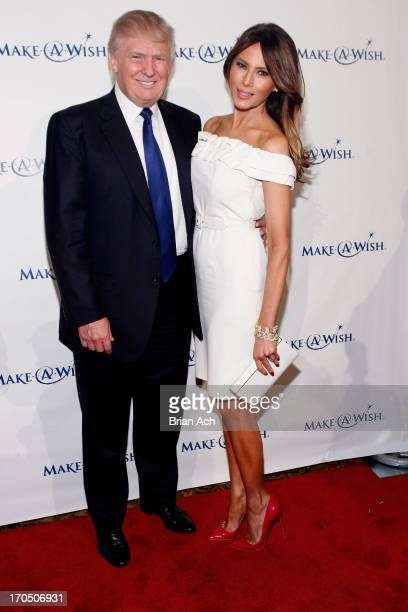Donald Trump and Melania Trump attend 'An Evening of Wishes' MakeAWish Metro New York's 30th Anniversary Gala at Cipriani Wall Street on June 13 2013...