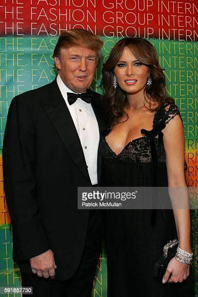 Donald Trump and Melania Trump attend Fashion Group International Presents The 22nd Annual Night of Stars Honoring 'The Romantics' at Cipriani 42nd...