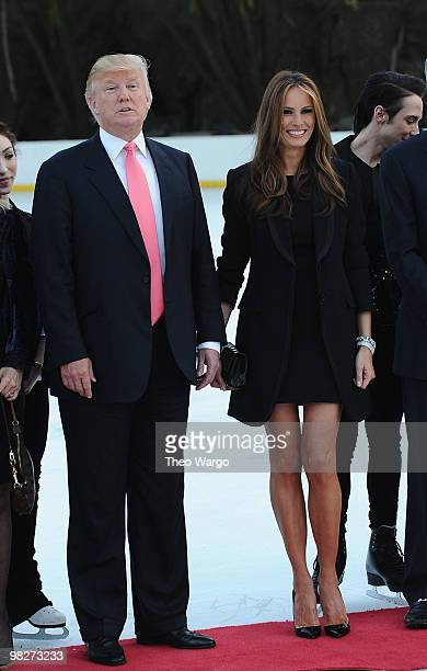 Donald Trump and Melania Trump attend Figure Skating in Harlem's 2010 Skating with the Stars benefit gala in Central Park on April 5 2010 in New York...