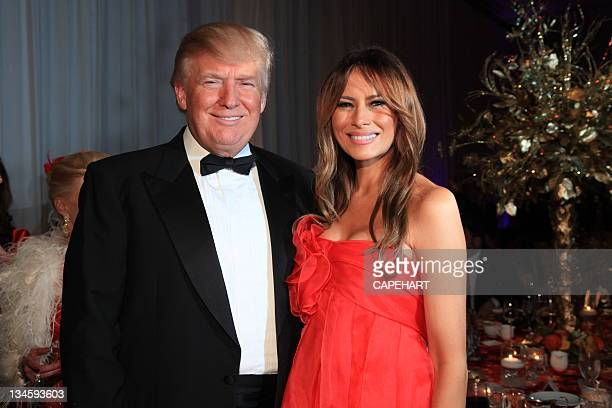Donald Trump and Melania Trump attend Lady in Red Gala to benefit The American Veterans Disabled For Life Memorial at The MaraLargo Club on December...