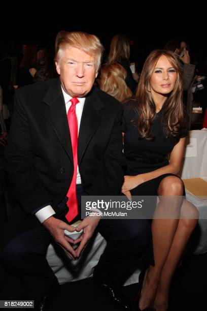 Donald Trump and Melania Trump attend MICHAEL KORS Fall 2010 Collection at Bryant Park Tents on February 17 2010 in New York City