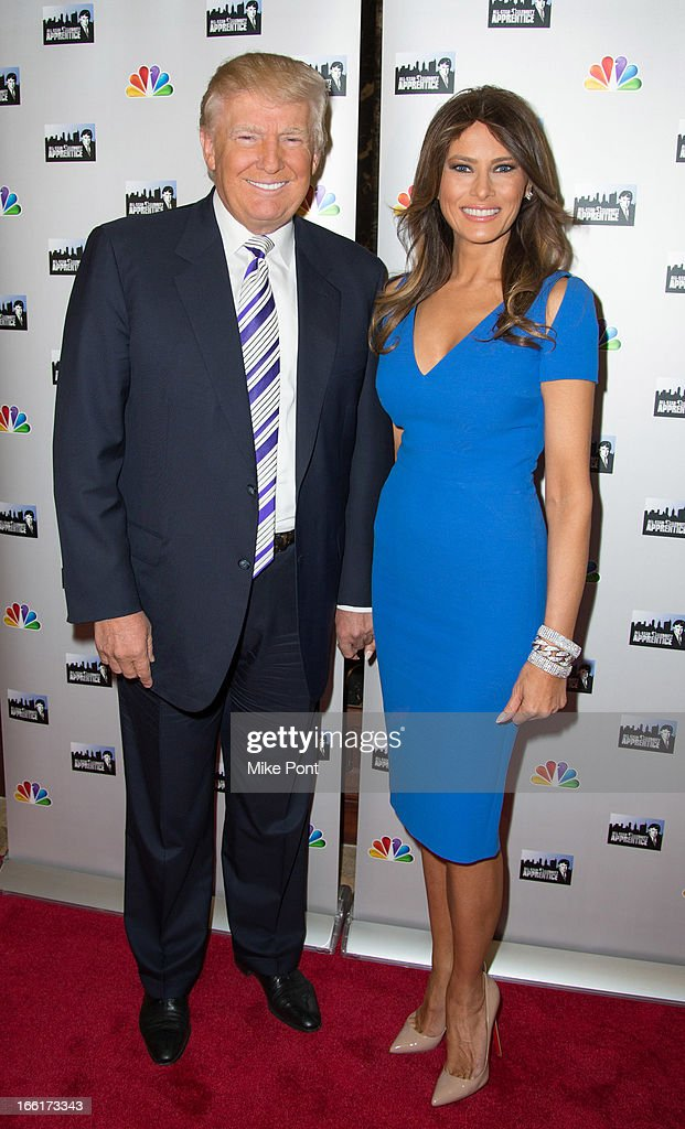 Donald Trump and Melania Trump attend the 'Celebrity Apprentice All-Star Event with Donald and Melania Trump' at Trump Tower on April 9, 2013 in New York City.
