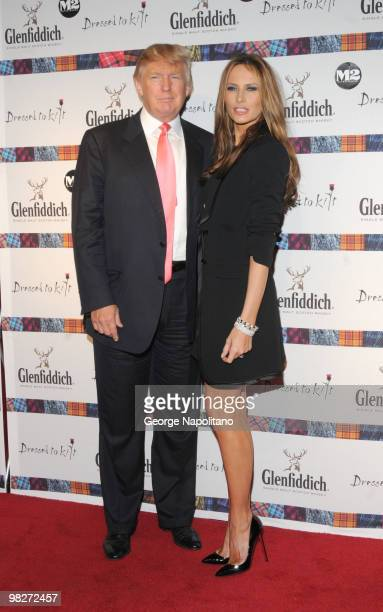 Donald Trump and Melania Trump attends the 8th annual 'Dressed To Kilt' Charity Fashion Show at M2 Ultra Lounge on April 5 2010 in New York City