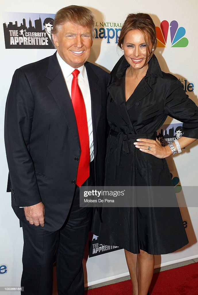 Donald Trump and Melania Trump attends 'The Celebrity Apprentice' Season 3 finale after party at the Trump SoHo on May 23, 2010 in New York City.