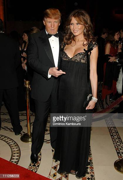Donald Trump and Melania Trump during Fashion Group International Presents The 22nd Annual Night of Stars Honoring 'The Romantics' Inside at Cipriani...