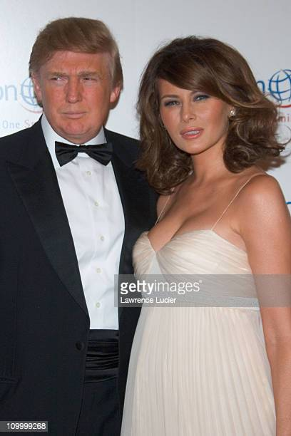 Donald Trump and Melania Trump during The Smile Collection Operation Smile's Annual Charity Dinner and Live Auction at Skylight Studios in New York...