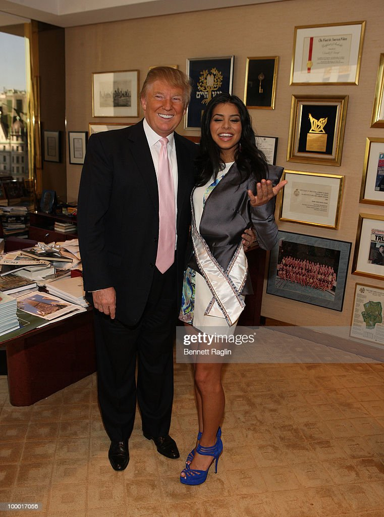 Donald Trump and Miss USA 2010 Rima Fakih meet at Trump Tower on May 20, 2010 in New York, City.