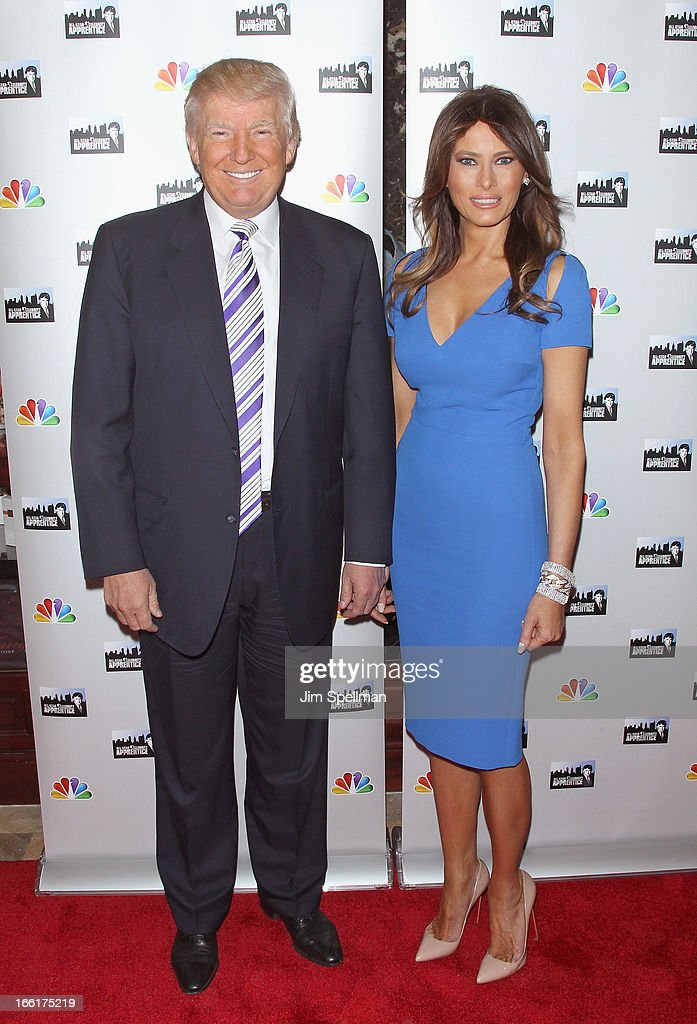 Donald Trump and model Melania Trump attend the 'Celebrity Apprentice All-Star' event at Trump Tower on April 9, 2013 in New York City.
