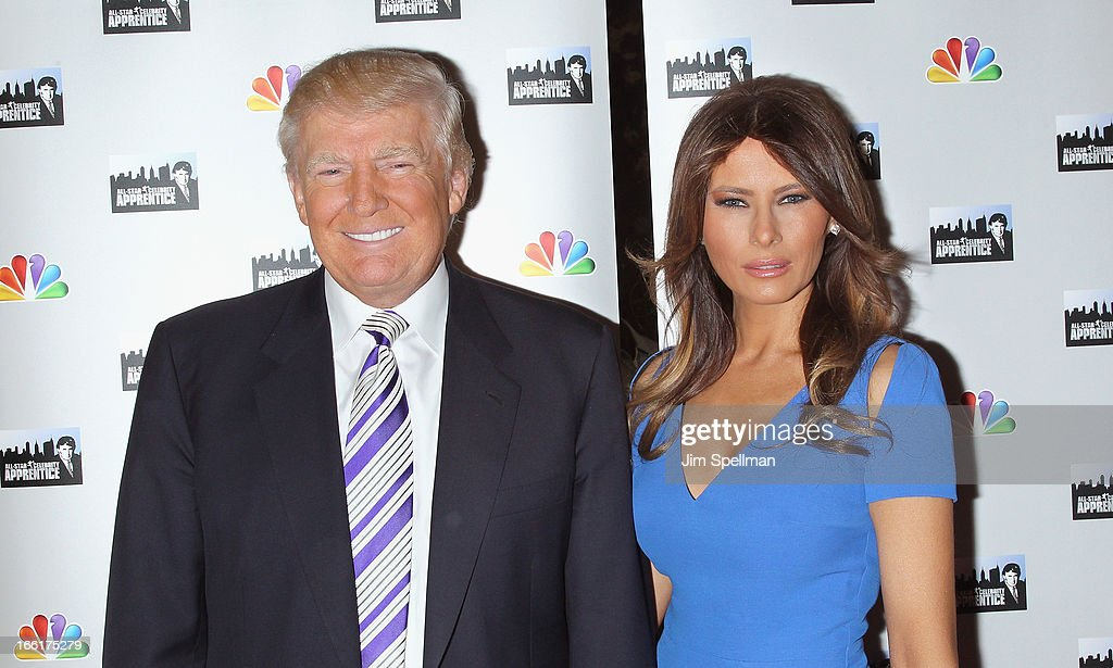 <a gi-track='captionPersonalityLinkClicked' href=/galleries/search?phrase=Donald+Trump+-+Born+1946&family=editorial&specificpeople=118600 ng-click='$event.stopPropagation()'>Donald Trump</a> and model <a gi-track='captionPersonalityLinkClicked' href=/galleries/search?phrase=Melania+Trump&family=editorial&specificpeople=201777 ng-click='$event.stopPropagation()'>Melania Trump</a> attend the 'Celebrity Apprentice All-Star' event at Trump Tower on April 9, 2013 in New York City.